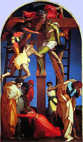 Descent from the Cross by Rosso Fiorentino, 1521